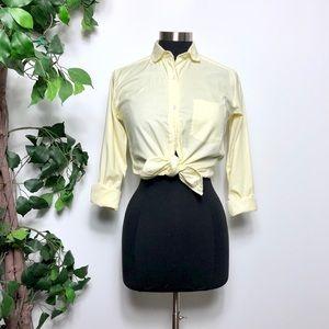 Diane Von Furstenberg Yellow Cotton Blouse Size 6